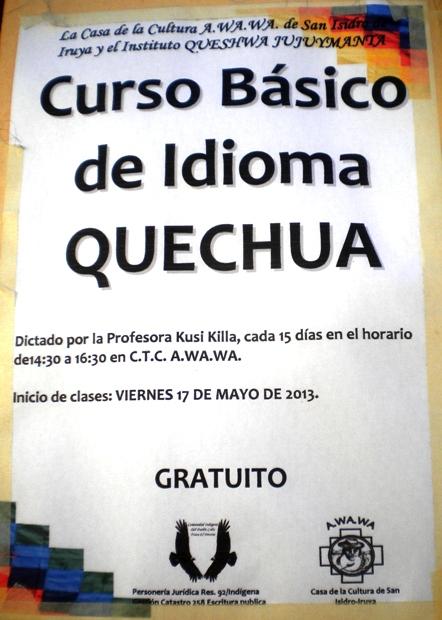 Curso básico de idioma quechua