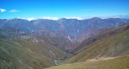 Fantástica vista hacia Rodio, Matancillas y Rodeo Colorado. (Foto: Pablo Harvey)