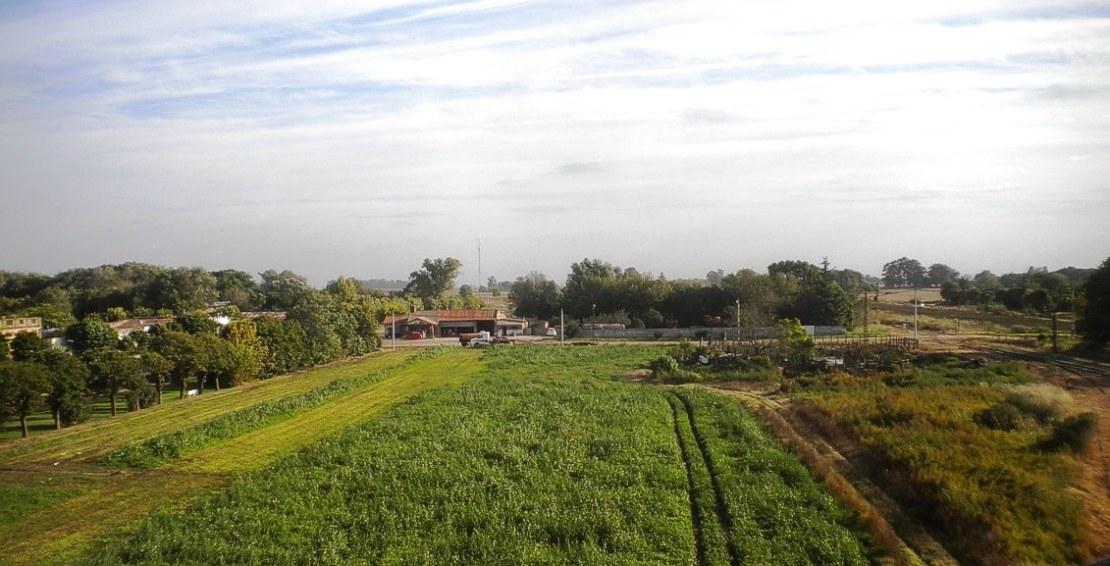 Una vista aérea de parte de San Eduardo