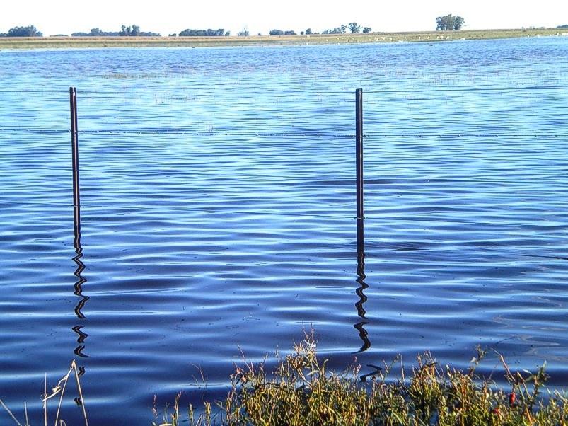 Otra vista: las aguas suben, los campos se anegan