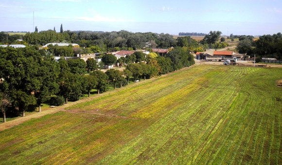 Vista aérea de San Eduardo. (Foto: Pablo Harvey)