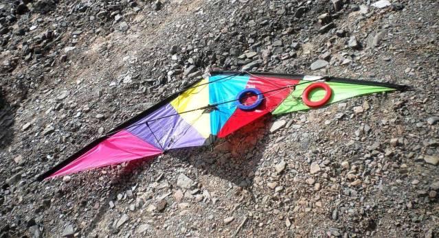 Una cometa colorida