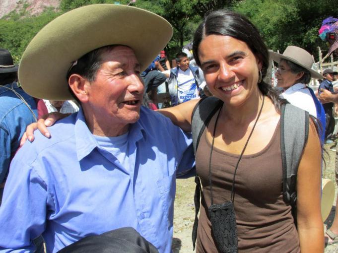 Don Martín Velazquez, de Iruya, con Ivana (de Unquillo, Córdoba).
