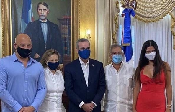 Vin Diesel se reunió con el presidente Luis Abinader