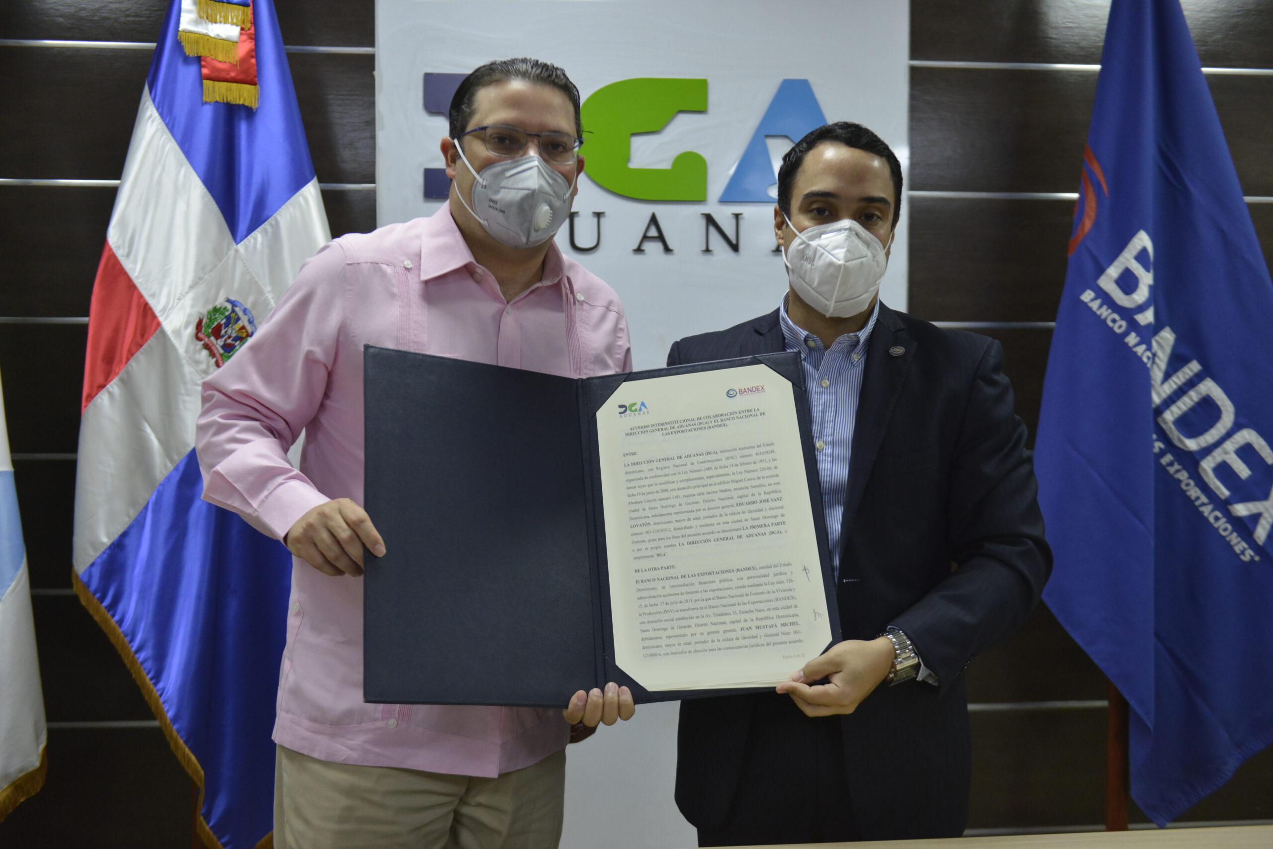 Aduanas y Bandex suscriben acuerdo de cooperación para facilitar el comercio