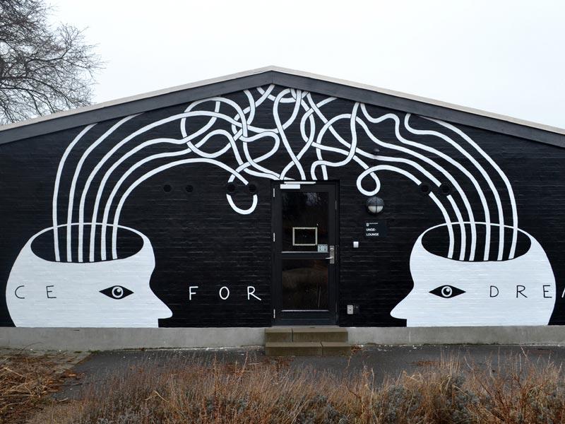 Gable painting Charlottenlund Denmark