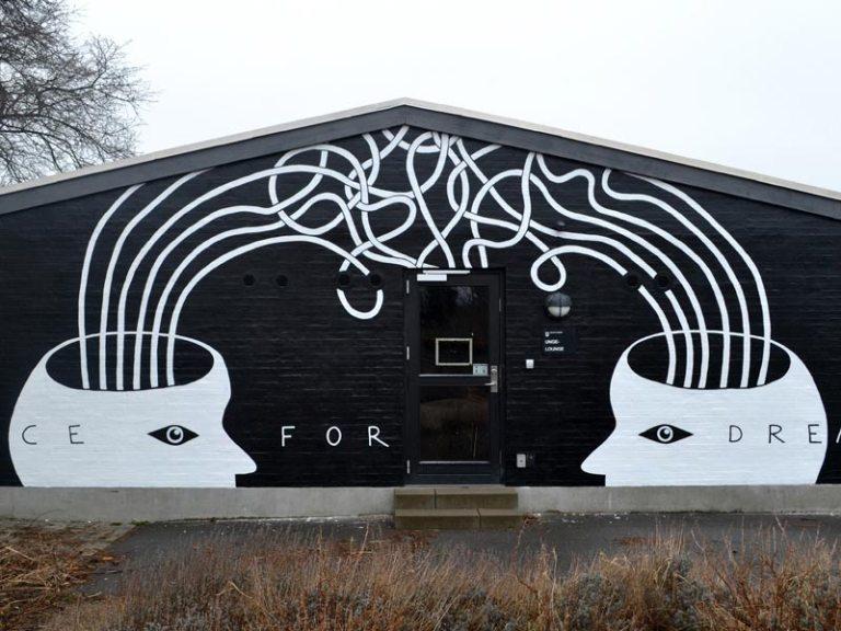 Vægmaleri Charlottenlund