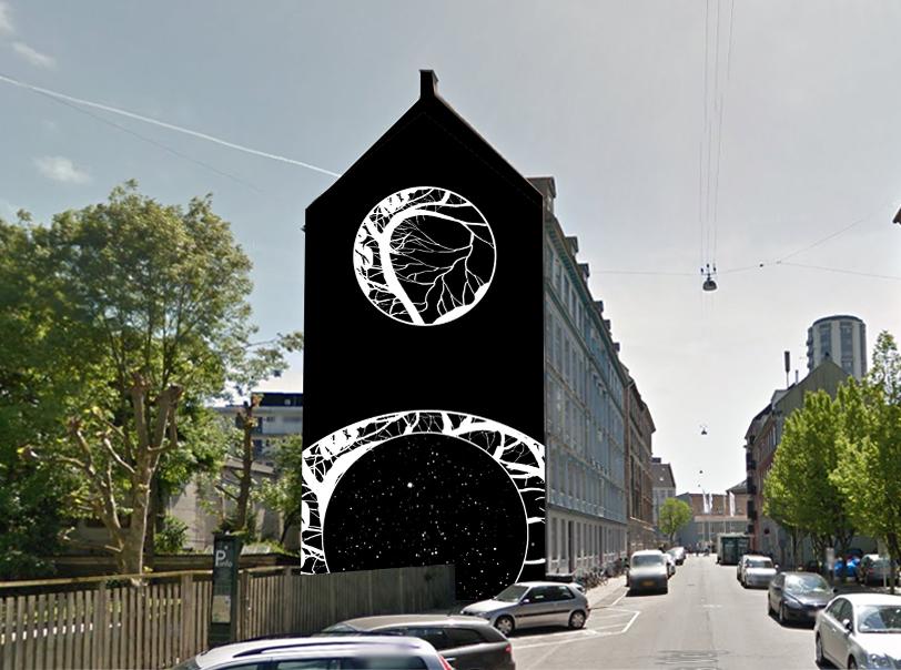 Fiktivt gavlmaleri på Frederiksberg