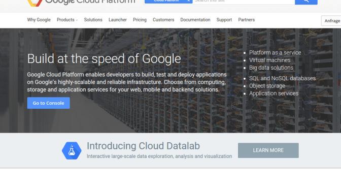 Google Compute Engine – das war's dann wohl