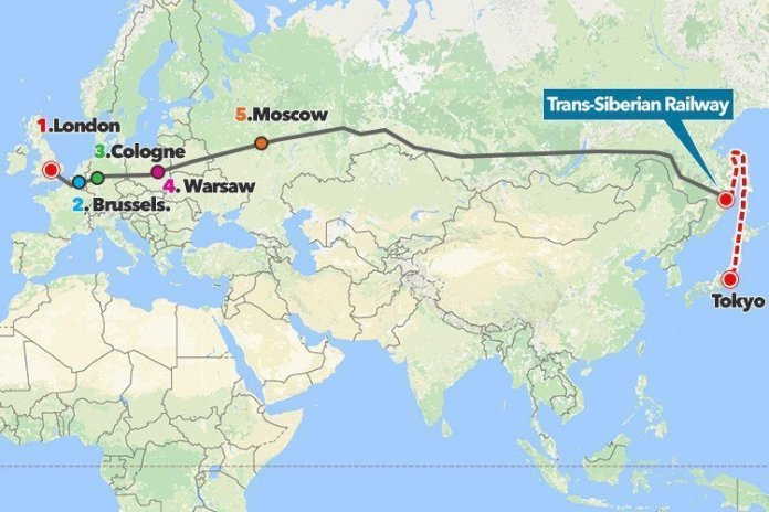 Da Londra a Tokyo in treno. Presto sarà possibile.