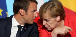 Merkel boccia Macron