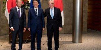 Vertice Ue Giappone firmato accordo commerciale anti-Trump