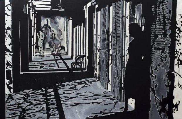 © Pietro Finelli, Marcus Rothkowitz Noir XXX, 2012, olio su tela, cm165x255