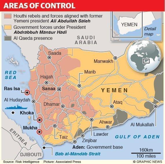 Mappa Yemen