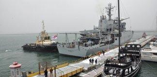 Nave da guerra britannica in Ucraina