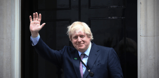 Boris Johnson a Downing Street