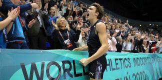 Il record del mondo nel salto con l'asta di Duplantis