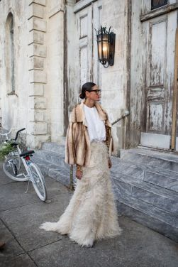 NEW ORLEANS, LA - NOVEMBER 16: Jenna Lyons outside of the wedding ceremony of musician Solange Knowles and music video director Alan Ferguson at the Marigny Opera House on November 16, 2014 in New Orleans, Louisiana. (Photo by Josh Brastead/WireImage)