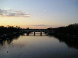 sunset in twickenham 21.03.12