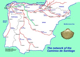the many routes to Santiago