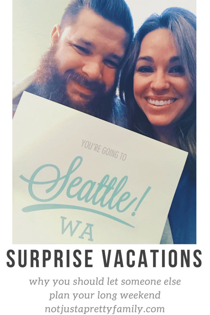 Our surprise vacation in Seattle was amazing!! Find out all about what we did and what it means to have a surprise vacation on our blog! notjustaprettyfamily.com
