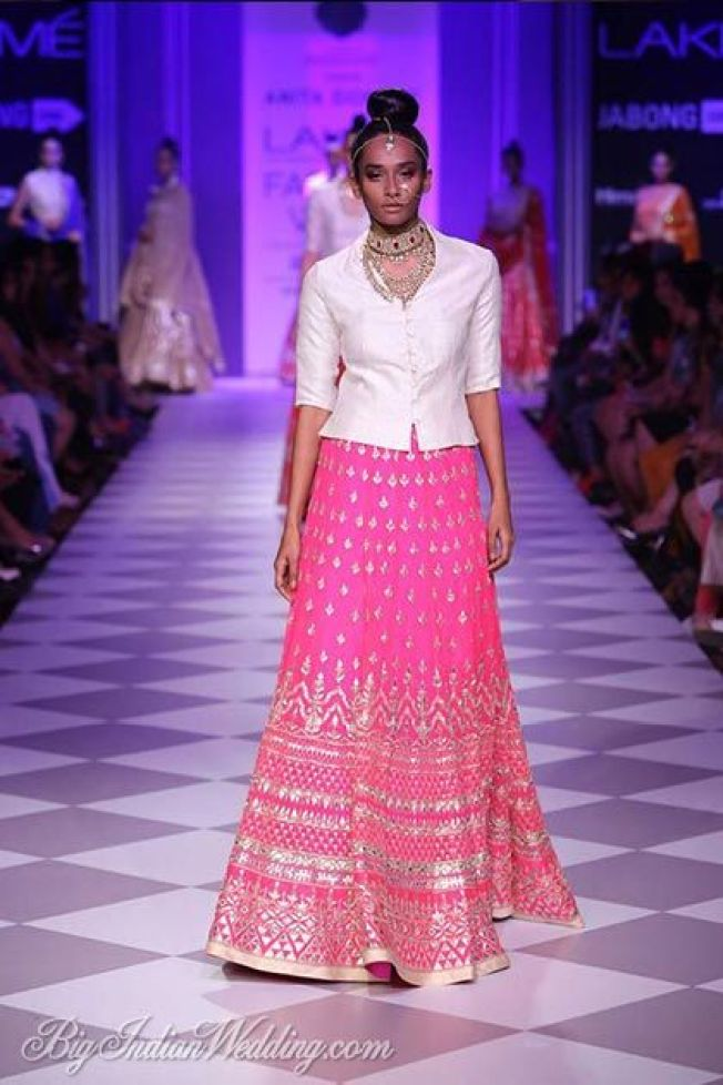 Pink Lehnga with some 'gota paati' - for a very special occasion via