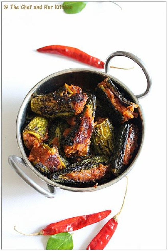 'Karela' aka Bitter Gourd is not everyone's cup of tea, but this version is delish! via