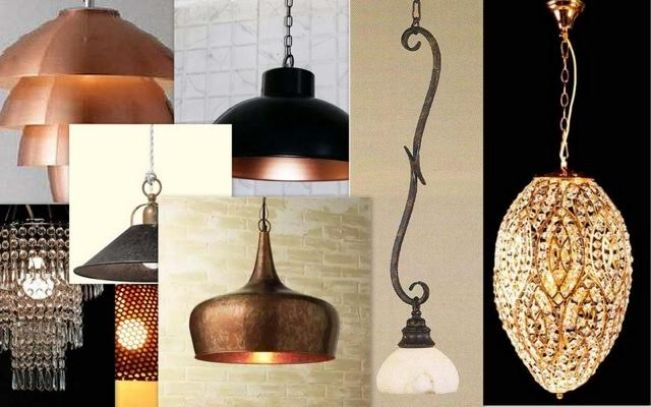 Lamps in copper, brass and pretty glass...all by artisans in Moradabad