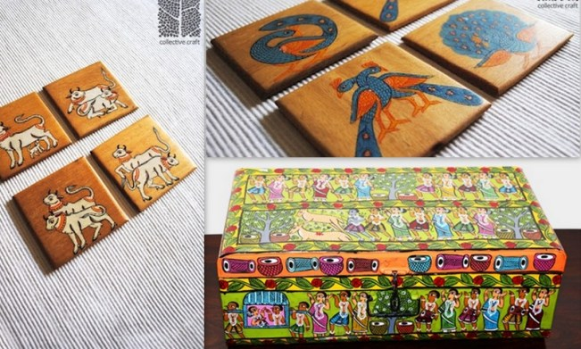 Caught my eye...coasters from Colelctive Crafts and the gorgeous Trunk via 1, 2