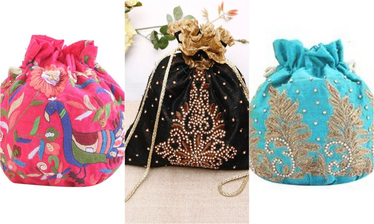 Vibrant, colourful and ornate...the evergreen potli bags