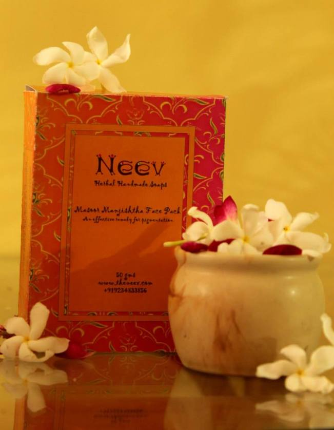Masoor Manjishtha Face Pack - made with powdered masoor medicated with manjishtha decoction to remove pigmentation and discolouration via