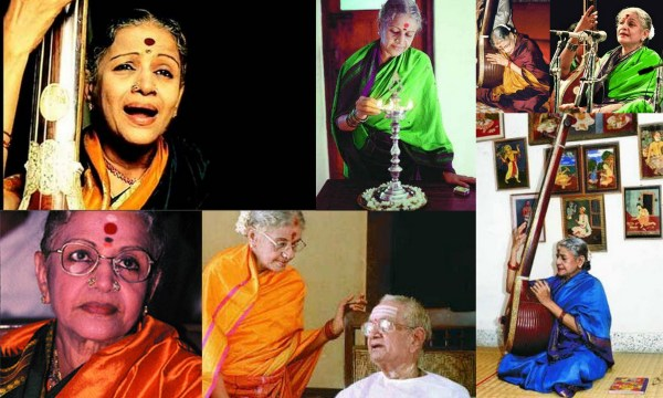The many moods of MS Subbulakshmi in Kanjeevarams via 1, 2, 3, 4, 5