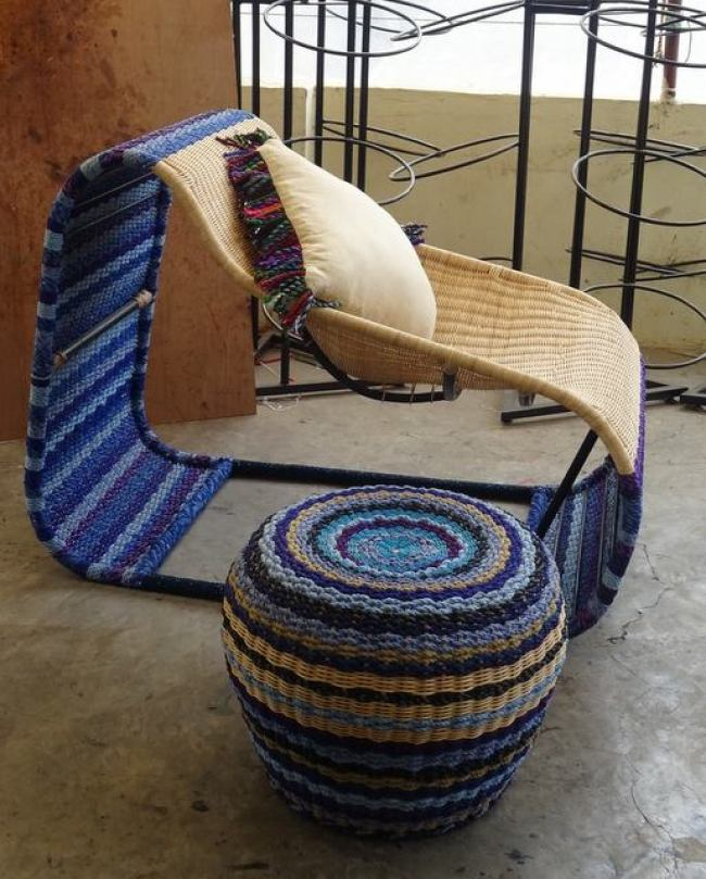 handmade, chair, stool, madeinindia, upcycled, tyres, India