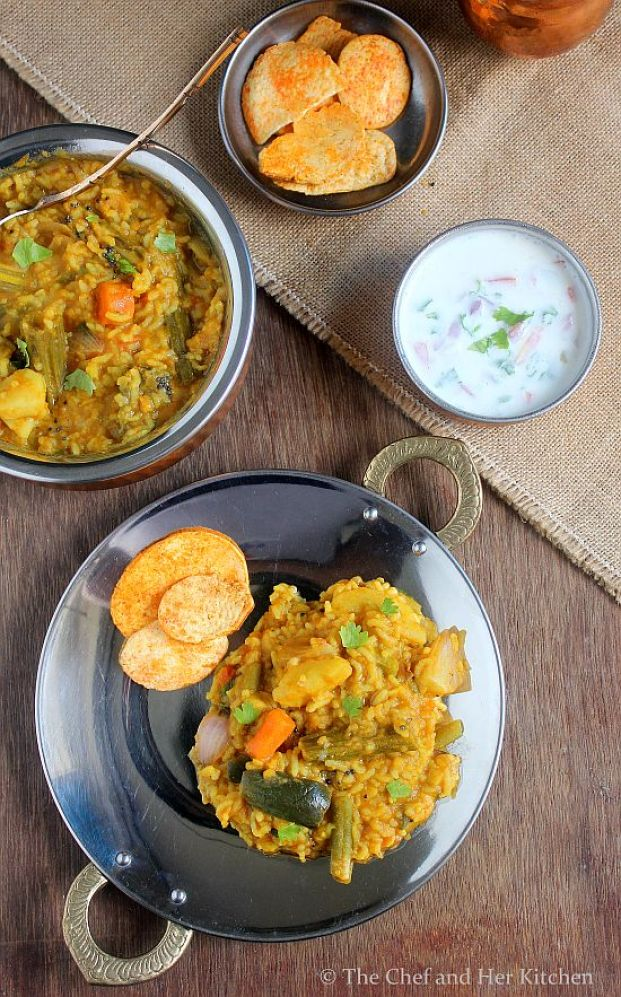 Andhra version of 'Bisi Belel Bhaath' - absolutely delicious...via