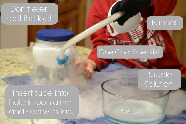 Playful Science Dry Ice Bubbles