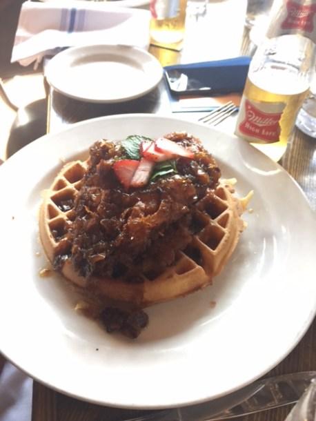 Chix and waffle