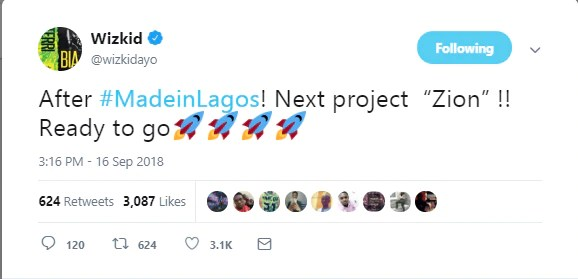 "[FRESH NEWS] ""ZION"" Wizkid Names Next Album After His Son"