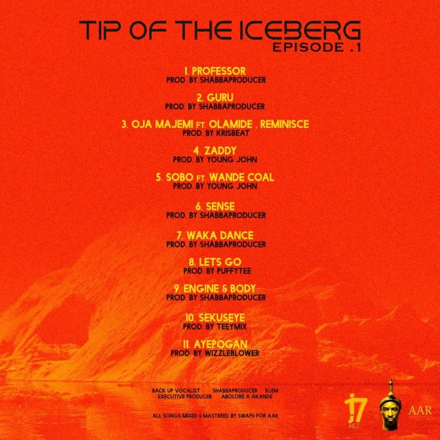 "9ice Unveils Tracklist of His Album, ""Tip Of The Iceberg"""