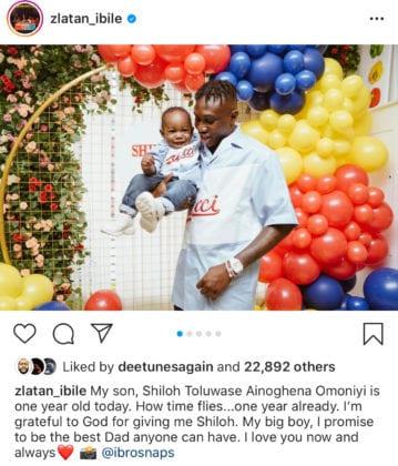 Zlatan Ibile Son's Birthday