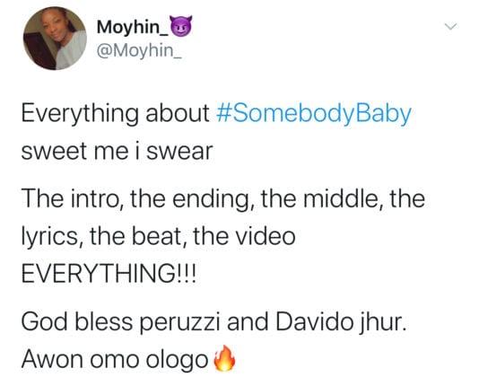 Peruzzi ft Davido - Somebody Baby