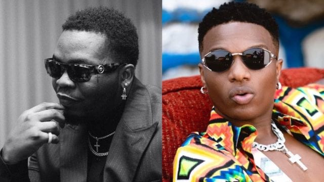 Olamide receives made in lagos gift  pack from Wizkid
