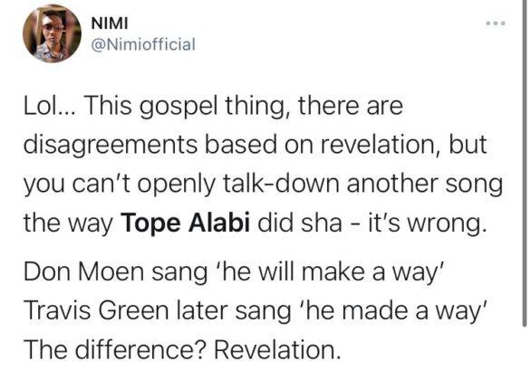 Tope Alabi's Response To Yinka Alaseyori 'Oniduro Mi' Sets Social Media On Fire! - See Reactions.