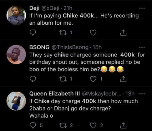 Chike Birthday Fee