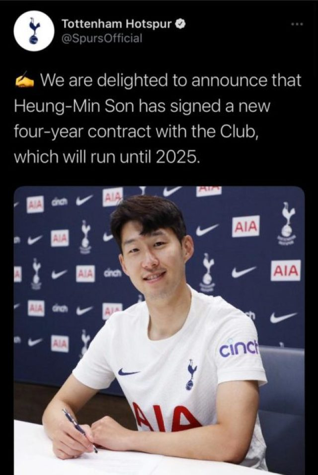 Son Sings Four-Year Contract
