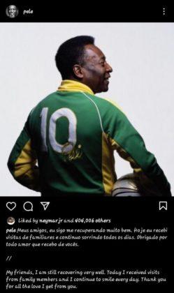 Pele's Instagram post