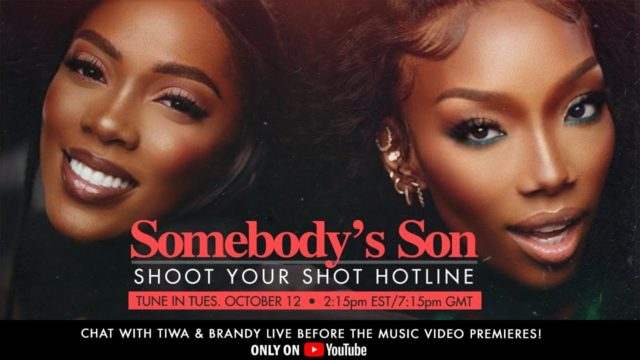 Tiwa Savage and Brandy Host Shoot Your Shot Video Hotline with Fans Watch NotjustOK
