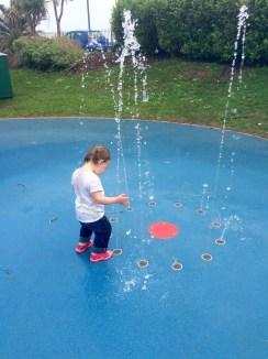 Phoebe doing her water dance