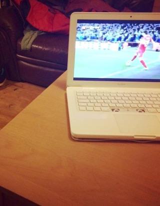 Lappy loving the football