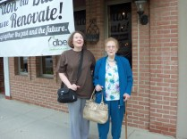 Me, Mom outside Bistro, Findlay OH