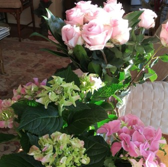 Roses and Hydrangeas